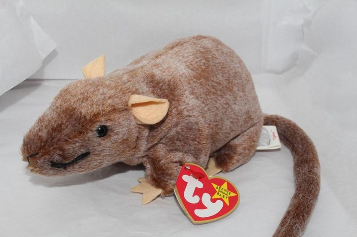 Ty Beanie Baby *TipToe* 1-8-1999 Retired brown Rat Tush Tag '99  #Ty #Beanie