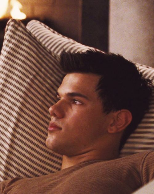 Jacob in Breaking Dawn 1 He was sleeping there cause Bellas about to give birth ----she wasn't a vampire yet.