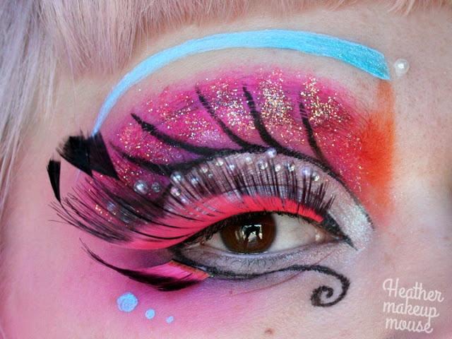 The Ladyboys of Bangkok Makeup Challenge - My glittery Stargazer Butterfly   make up mouse