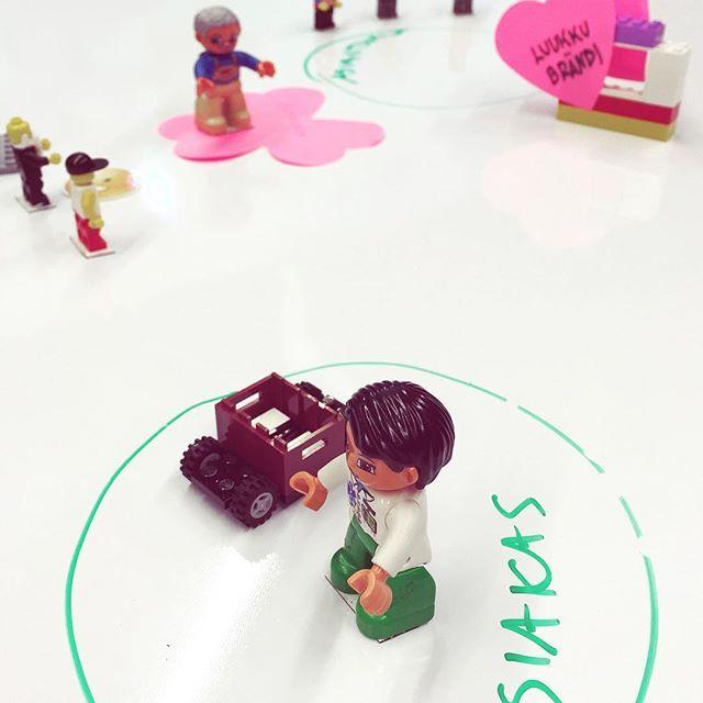 Protoilua Sinco-labrassa, asiakaspolkuja testaamassa  #prototypinglab #sinco @universityoflapland #asiakkuuksienhallinta #lecturerlife @lapinamk #kummaakarismaa