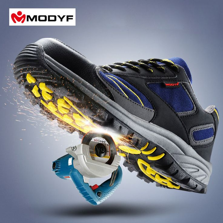 Modyf Men's steel toe cap work safety shoes casual breathable outdoor hiking boots puncture proof protection footwear
