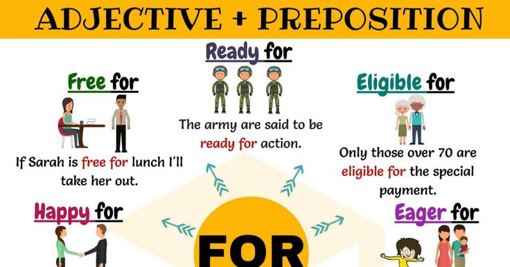55shares Learn common Adjective Collocations with the Preposition FOR in English. List of 27 Adjective Collocations with the Preposition FOR. …