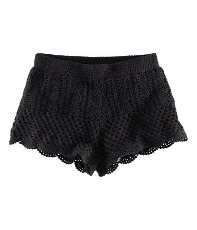 crochet crochet crochet: Black Crochet Shorts, Black Lace, Crochet Boyshorts, Crochet Da, Crocheted Shorts, Knitted Short