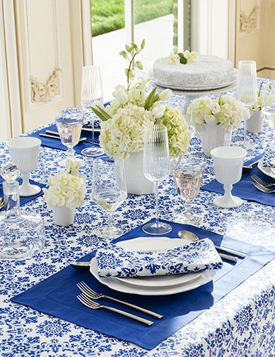 SFERRA's new Haley table linens - the perfect pairing for a beautiful tablescape