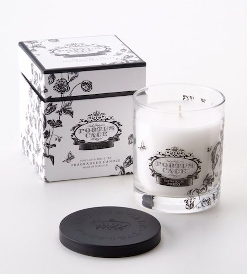 Portus Cale Floral Toile Candle - Hand blown glass Made in Portugal  Distributed in Australia by Supertex
