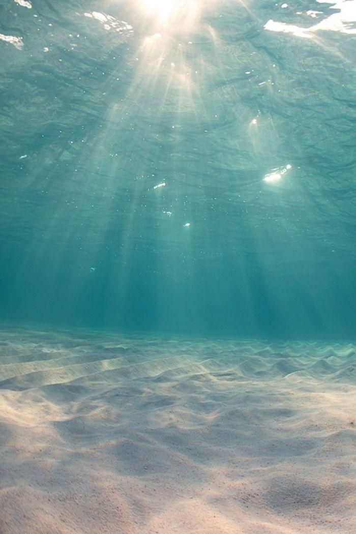 Crystal-clear water & slivers of sunshine.