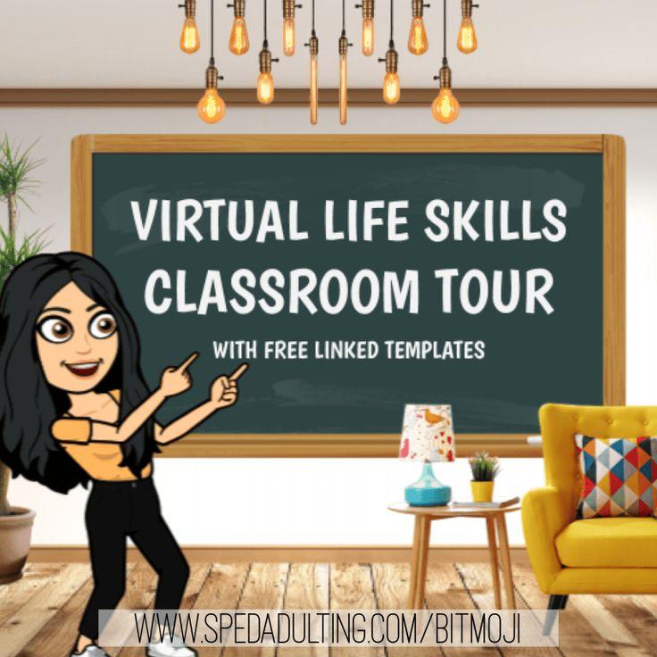 Bitmoji Virtual Life Skills Classroom Tour With FREE