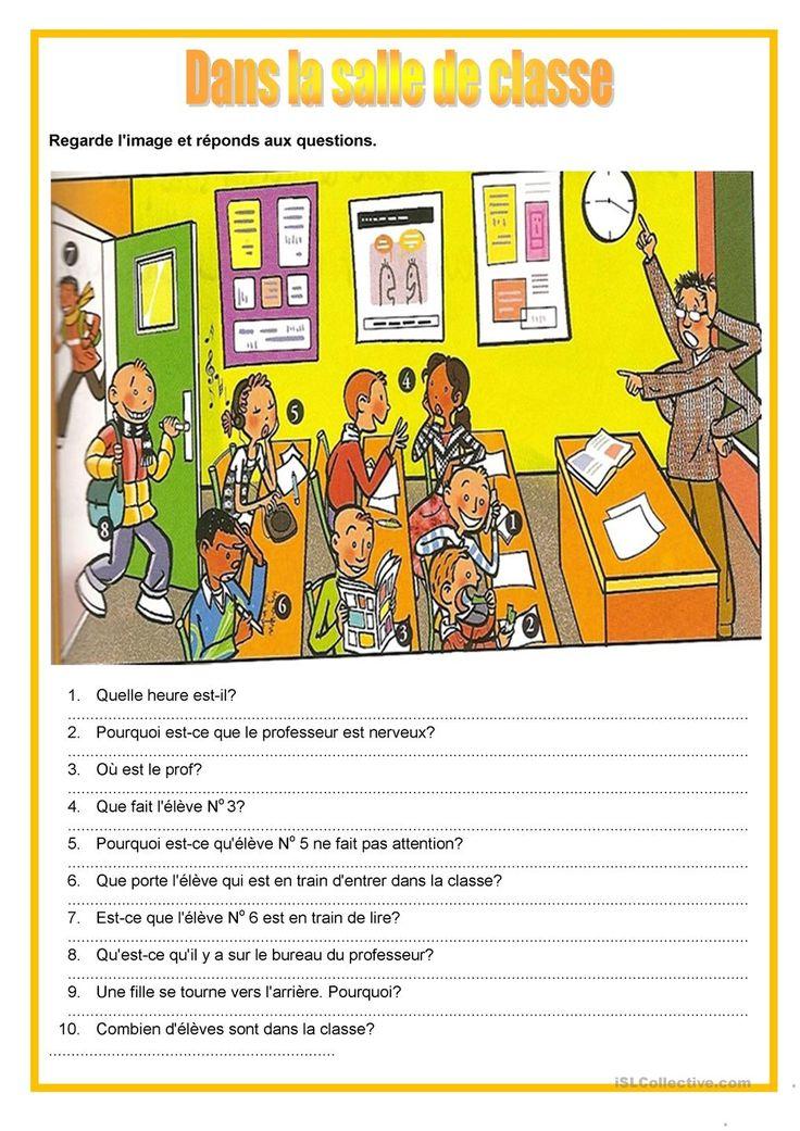 Description image - dans la salle de classe