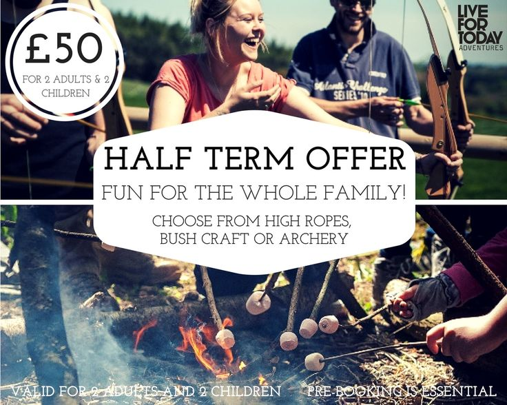 🐰🐣 👨‍👩‍👧‍👦 EASTER HOLIDAY FAMILY OFFER!  👨‍👩‍👧‍👦🐣🐰 Make your Easter break one to remember and try Archery 🏹🎯, Bushcraft 🌿🔥 or High Ropes! Just £50 for a family of 4 (age 8 & up)! 👨‍👩‍👧‍👦 Fun games, exciting competitions and a whole lotta fun 🙌 Available at all of our venues near York, Leeds, Harrogate & Kendal (High Ropes Harrogate & Kendal only) between 3rd and 23rd April, Sunday - Friday. Pre-booking is essential, book today