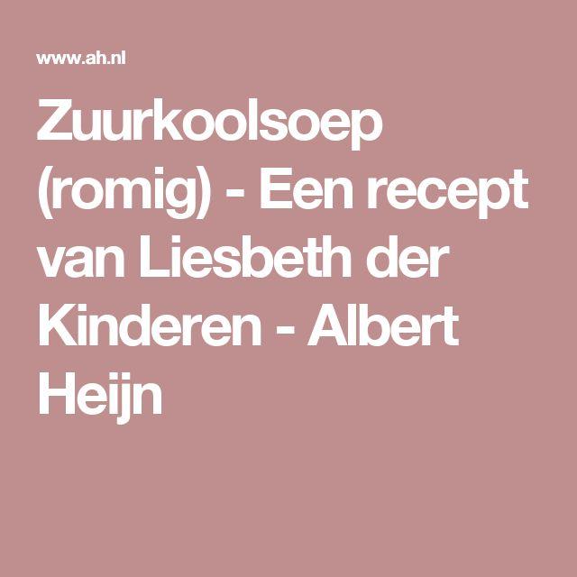 Zuurkoolsoep (romig) - Een recept van Liesbeth der Kinderen - Albert Heijn