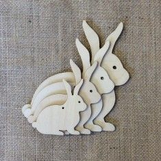 Wooden Hanging Bunnies