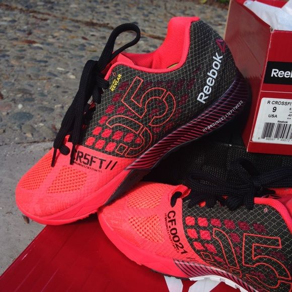 COMING TONIGHT!⚡️NWB⚡️Reebok CrossFit Nano 5.0❤️ I will soon be posting more info and pictures! The 1st pic is most accurate of the color. It is like a neon salmon color. So cute! Bought them for my cousin and they were too big, so she only tried them on inside and never wore. I purchased them online and for some strange reason, there is absolutely no record of them and I never got a confirmation email so I can exchange & they haven't been helpfulI paid the full $129.99+tax, so hopefully I…