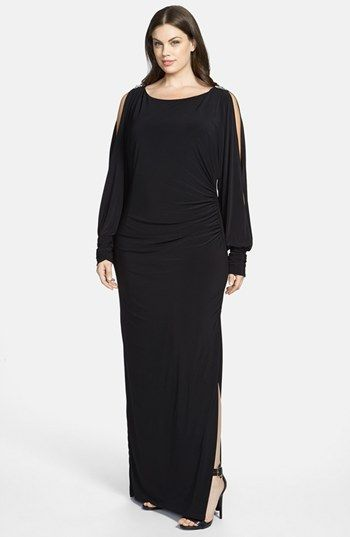 Betsy & Adam Embellished Cold Shoulder Jersey Maxi Dress (Plus Size) available at #Nordstrom
