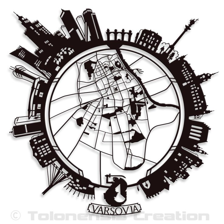 Little Planet Varsovia   The new concept of thematic and personalized wall ornament Little Planet depicting cities.  This model presents the version of the city of Warsaw (Poland).   Metal laser cut  Powder coating paint  Height 1 m - 39,50 inc.   Design Jacques Lahitte  © Tolonensis Creation  www.tolonensis.com