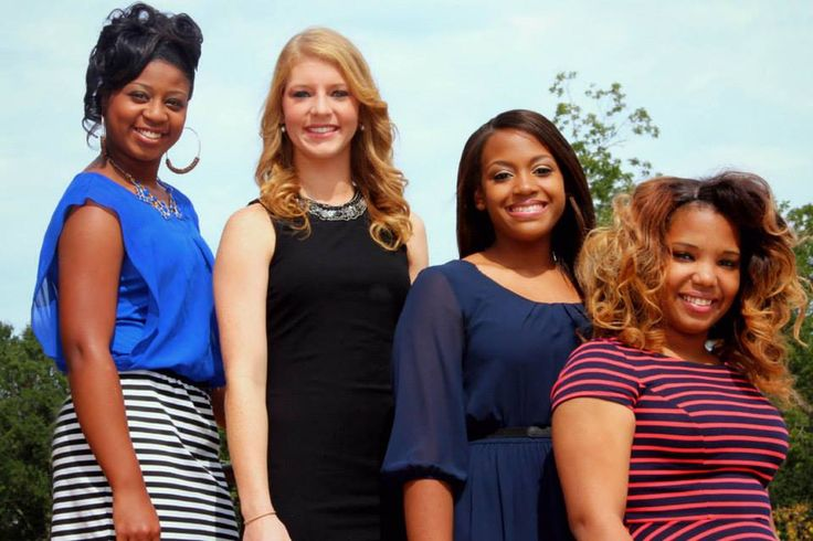 Members of 2014 homecoming court from the Natchez Campus are from left, LaKeria Kaho, sophomore maid; Abby Givens, sophomore maid; Angel Davis, freshman maid; and Alexis Moore, freshman maid.