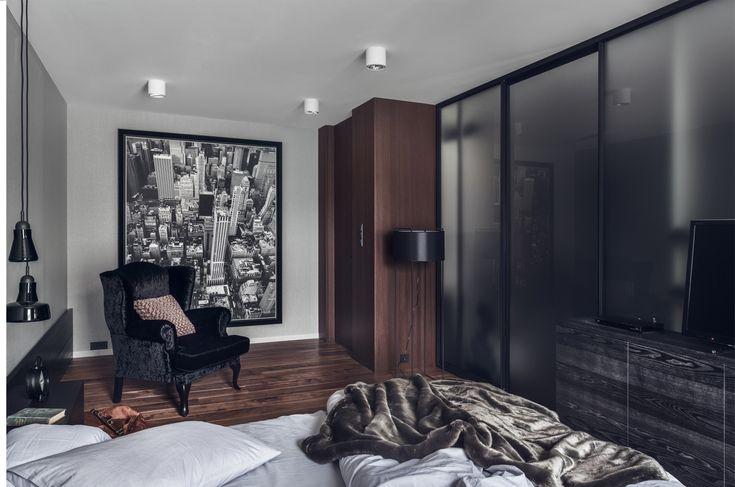 Bedroom with New York view - designed by Studio Potorska