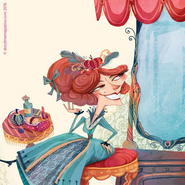 Snow White's wicked stepmother – our Storytime Issue 16 fairy tale. Illustration by Flavia Sorrentino (http://flaviasorrentino.blogspot.co.uk) ~ STORYTIMEMAGAZINE.COM
