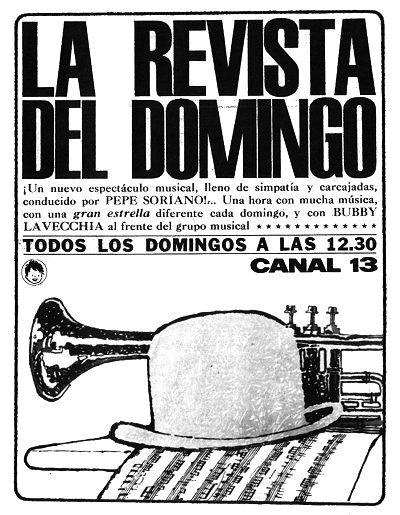 Publicidad de la programación de CANAL 13, Buenos Aires, 1962.