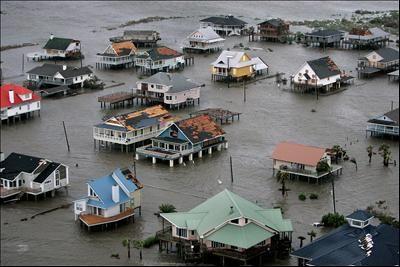 Hurricane Rita damage