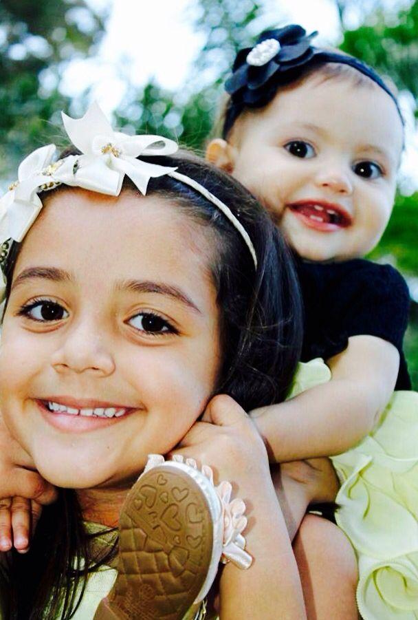 Sou loucamente apaixonado por essas duas garotinhas #SobrinhasLindas