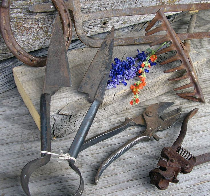 Old Farm Tools, Pitchfork, Sheep Shears - Display Farm Tools - Toy Rack with Name - Industrial Scrap - Prop - Rustic Home Decor  #8-30 by HighDesertRust on Etsy