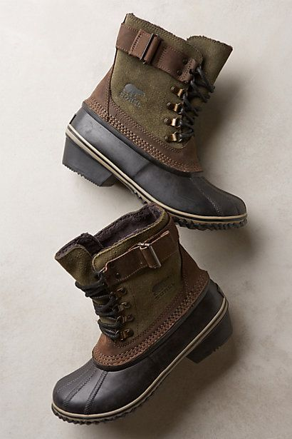 Anthropologie SOREL WINTER FANCY LACE II BOOTS #anthrofave