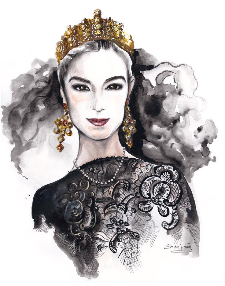 #fashion illustrations #fashion #moda #elina #sheripova #art #idolce & gabbana