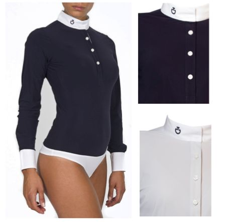 Cavalleria Toscana : Body competition shirt in navy