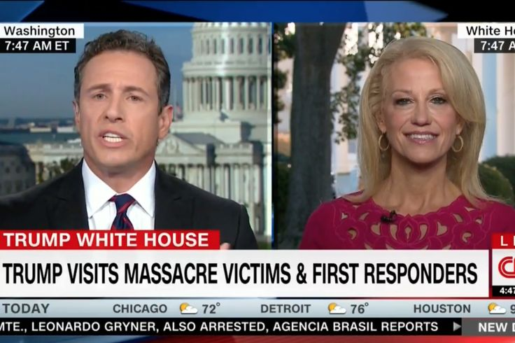 "CNN's Chris Cuomo and presidential counselor Kellyanne Conway have a history of going toe-to-toe, but the pair engaged in an especially explosive debate Thursday as the New Day host pushed for an urgent response to the Las Vegas massacre while Conway defended President Trump's decision not to talk about gun control in the wake of the attack. Conway began by criticizing liberals for only appearing to care about gun control in the immediate aftermath of a mass shooting. ""[Hillary C..."