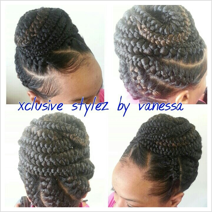 Protective style up do