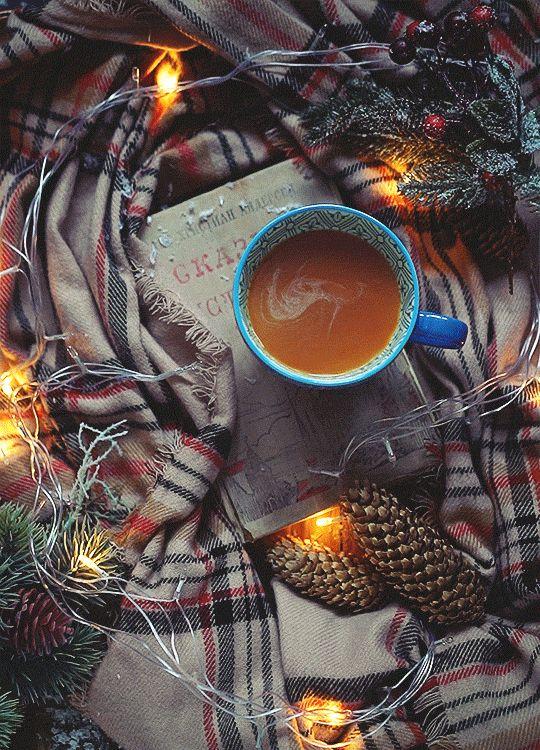 красивые гифка с кофе и пледом ностальгии стране, которой