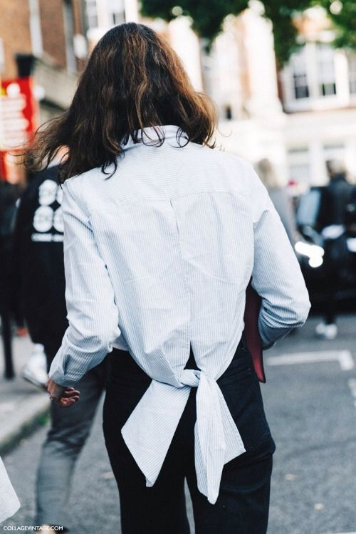 It's all about the detail.... #bow #whiteshirt #monochrome