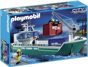 Playmobil City Action 5253 Cargo Ship with Loading Crane: Amazon.co.uk: Toys & Games