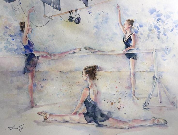 """""""Mi piace"""": 33, commenti: 5 - Anna G. (@anna_g_fashion) su Instagram: """"~Ballet Barre Workout~ 🎨Watercolour…"""""""