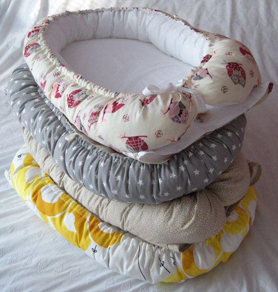 Op maat Baby Nest Cot reizen Gezellige door TheFoxandBowStudio