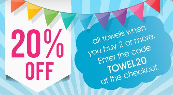 Check out our great new promotion which is going on now over at www.pricerighthome.com! Great 20% discounts up for grabs on our towels! Make the most of the savings!