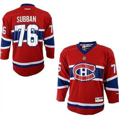 Youth Montreal Canadiens PK Subban Reebok Red Replica Player Hockey Jersey