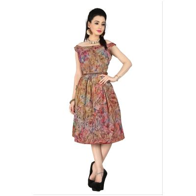 Buy TheEmpire Multi Prism Printed Western Dresses With Brown Leather Belts by The Empire, on Paytm, Price: Rs.849?utm_medium=pintrest