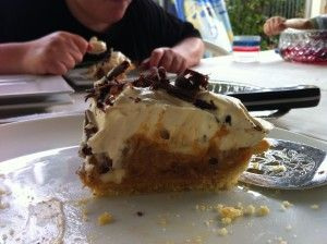Bannoffee Pie by Jamie Oliver for Paul's 48th birthday. A little reminder of home!