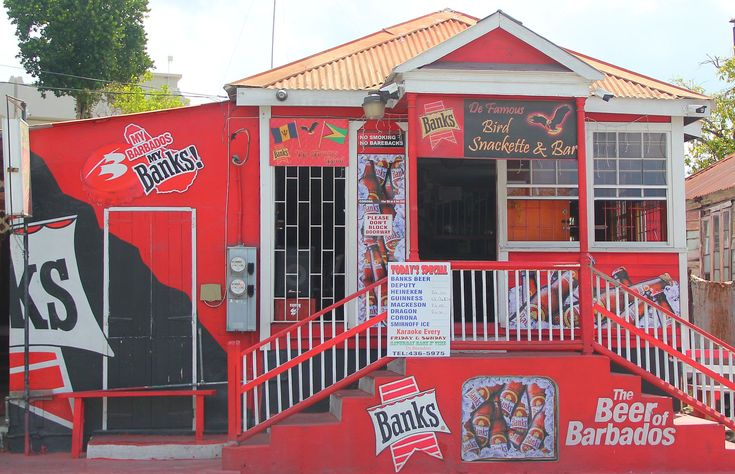 We love this iconic Barbados rum shop and food stop, one of over 1500 rum shops on the island! Cheers!