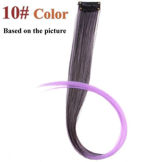 20 Colors 50CM Synthetic Single Clip In One Piece Hair Extensions