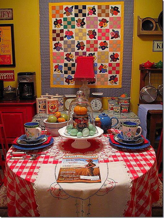 Country table area... ♥ ♥ ♥