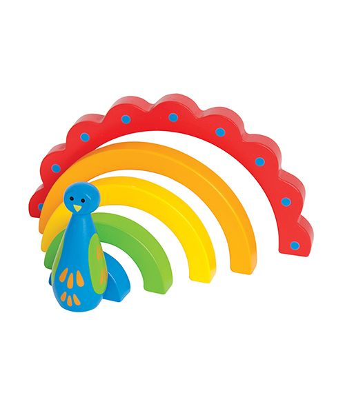 Peacock Curves From Hape from The Wooden Toybox