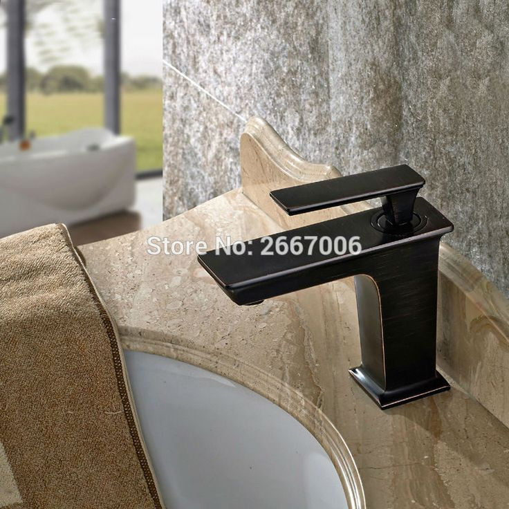 Free Shipping New Black Finish Mixer Tap Deck Mount Brass Basin Faucet Single Handle Mixer Waterfall Basin Tap Hardware ZR363 #Affiliate