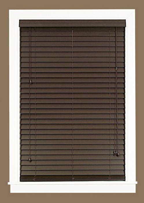 Madera Falsa Faux Wood Venetian Blind- 4.6 avg review. $29.99 per panel on Wayfair.