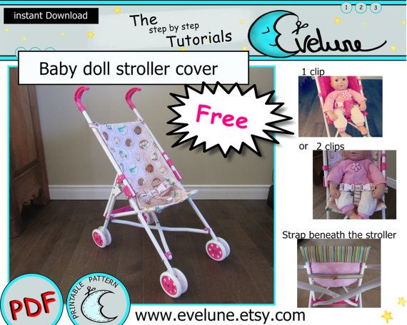 Free baby doll stroller cover makeover pattern here : http://www.fichier-pdf.fr/2015/10/07/baby-doll-stroller-cover-pattern-and-tutorial-evelune/