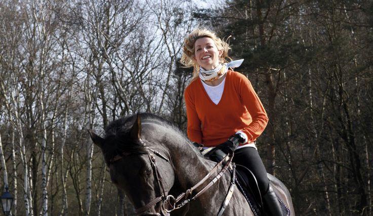 En équitation, il faut préparer l'avenir:  celui d'Edwina s'appelle Guccio, un étalon reproducteur de 9ans, avec qui elle pense déjà aux JO de Rio.