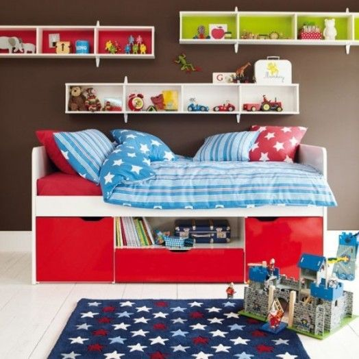 Bedroom Interior Room Design Brown Small Kid With Storage Excerpt Ideas: 31 Chocolate Brown Kids Rooms Design Ideas To Inspire