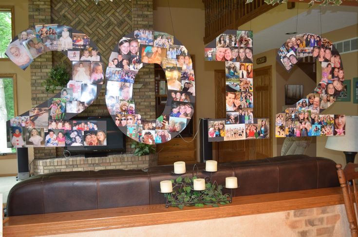 This is a Christa original idea! lol! Great for graduation parties I cut out the year I graduated out of poster board and glued pictures on it! It was a fun alternative to the traditional photo board for a grad party!