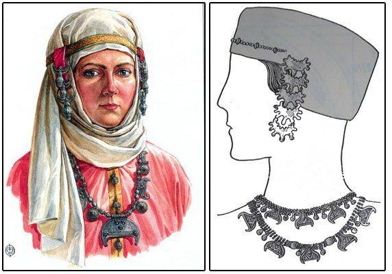 Рубрика Славянские обереги Лунницы Кроме колтов носили еще и ожерелья